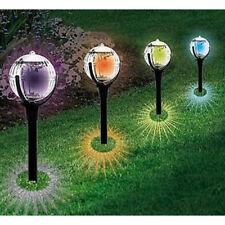 LED Pathway Light Color Changing Solar Ball Stake Light Garden Lamp Decor