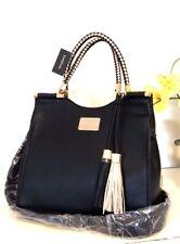 NWT Bebe Natalie Shopper Handbag with Removable Strap Black /Gold WBE05-313 $109