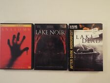 3 DVD-lot-Horror-Lake Noir-Brain Damage Films-Lake Dead-Anatomy-RARE