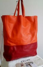 AUTHENTIC CELINE CALF LEATHER BI COLOUR VERTICAL CABAS TOTE BAG RRP $1700 AUD