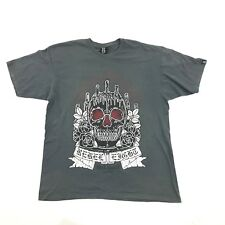 REBEL8 Eight Distressed TShirt Vintage Wash Slate Gray Skull Shrine Worship T