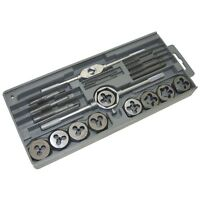20PC TAP AND DIE SET NUT & BOLT SCREW THREAD CUTTER METRIC THREADING WRENCH TOOL