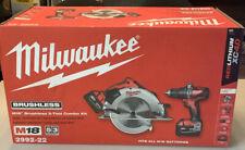 "Milwaukee M18 Hammer Drill and 7¼"" Circular Saw 2-Tool Combo Kit 2992-22 NEW NIB"