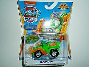 """Nickelodeon Paw Patrol True Metal Rocky - Mighty Pups Super Paws """"NEW"""""""