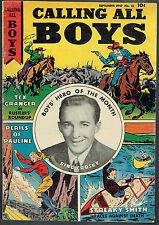 CALLING ALL BOYS  13  VG/4.0  -  Bing Crosby photo cover!