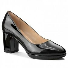 Clarks Ladies Kelda Hope Black Patent Leather Court shoes Size 7/41 D