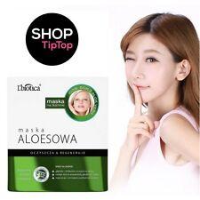 L'biotica Aloe Face Mask Sheet Mask Paraben Free Regenarating Cleansing FreePost