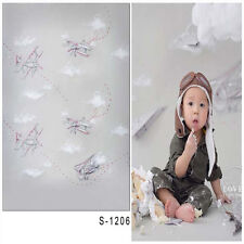 3x5ft Vinyl Photography Backdrop Baby Boy Aircraft Photo Background Studio Props