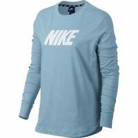 New Nike Womens Sz Large NSW AV 15 Top Ocean Bliss Athletic Long Sleeve T-Shirt