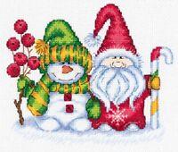 Klart Counted Cross Stitch Kit-Noël-Luge avec cadeaux