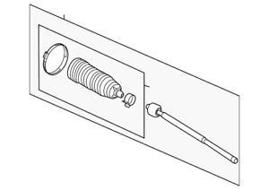 Genuine Ford Inner Tie Rod BK2Z-3280-A