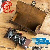 Watch Roll Display Box Leather Travel Case Wrist Watches Storage Pouch T1Y5