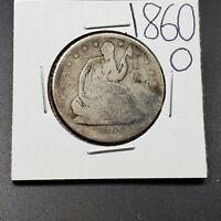 1860 O Seated Liberty Silver Half Dollar 50c Civil War Era Coin Choice AG