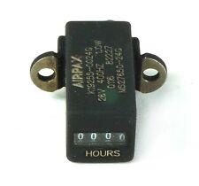 """Airpax 1"""" Mil-Spec MS27650-24G Elapsed Time Meter 26 VAC 400 Hz 1 Watt 9999 Hrs"""