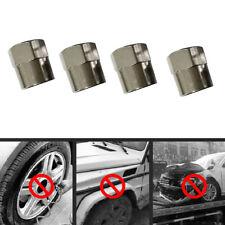 5*Tyre Tire Dust Caps Wheel Air Valve Stem Screw Cover Stainless Steel Hexagon G