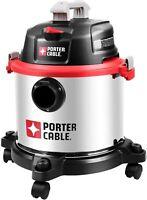 Porter-Cable 5 Gallon 4 Peak HP Wet Dry Workshop Vacuum,  Stainless Steel