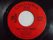 Tim Hardin Simple Song Of Freedom / Question Of Birth 45 Columbia Vinyl Record