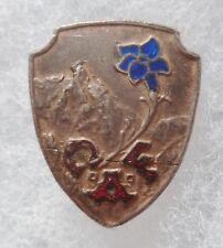 Insigne boutonnière émail CAF CLUB ALPIN FRANCAIS Ski Montagne 1939 ORIGINAL