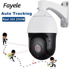 "Security 6"" High Speed AUTO Tracking PTZ Camera 30X ZOOM Starlight Laser IR 300M"