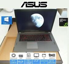 "PORTATIL ASUS ROG GAMING 17,3"" i7 7ª+NVIDIA 1060 6GB+16GB DDR4+SSD 250GB+1TB HDD"