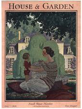 Rare Orig VTG 1928 Mother Children House & Garden Magazine Cover Only Art Print