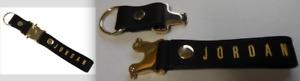 Nike Men Jordan Luxe Lanyard Detachable Clip For ID or keys Black/Metallic Gold