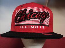 "JOY CAP ""Chicago  Illinois "" baseball cap black / red color snapback"