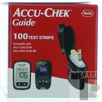 AccuChek Guide 100 Diabetic Blood Glucose Test Strips  Exp 02-2022+ (DUV)