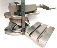 FRESATRICE MODULARE CNC Vise Vice Mascelle 50 mm + TAVOLA noioso-BASE GIREVOLE TILT