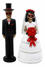 Day of the Dead Sugar Skull Couple Wedding Figurine Statue Set 5""