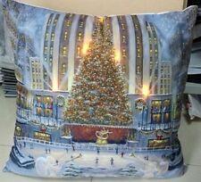 LED LIGHT UP CUSHION CHRISTMAS TREE & ICE RINK - FACTORY SEALED - C-3012