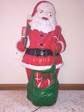 "Rare Vintage Dapol 32"" 1973 Santa Lighted Blow Mold Yard Decoration"