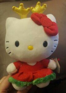 TY HOLIDAY Hello Kitty Doll-NWT Plush Toy Stuffed Animal LE WORLDWIDE SHIP
