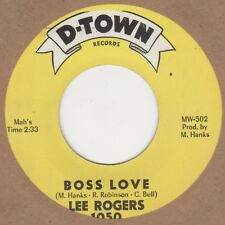Lee Rogers Boss Love D-Town Soul Northern Motown