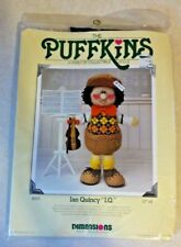 1983 Dimensions Kit Puffkins Ian Quincy I.Q. Soft Sculpture 12� Doll