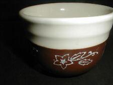 "Universal/Oxfordware Potteries SNOWDROP Snow Flower Brown 4"" Bowl (loc-D52)"