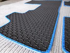 $$$ Gummimatten passend für BMW i3 I3 +2-tlg. RAND BLAU + Gummi- Fußmatten + NEU