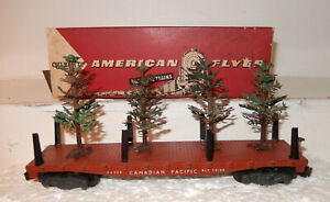 American Flyer NEW? Rare 24558 Christmas Tree Transport Car W Green TreesOB