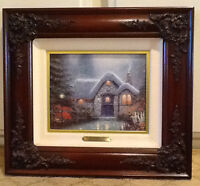 Thomas Kinkade Canvas Framed Woodman's Thatch - Artist Proof (A/P) SN