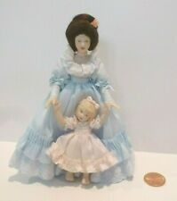 LOVELY PORCELAIN LADY DOLL WITH HER LITTLE GIRL