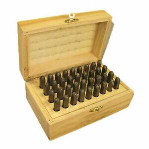 6mm (1/4) Metal Alphabet and Number Stamp Set Wood Box