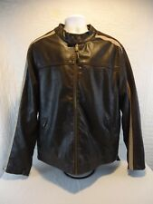 Arizona Jeans Faux Leather Quilted Lining Cafe Motorcycle Jacket Sz XL/XG