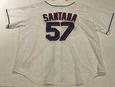 Majestic New York Mets Johan Santana Jersey White Throwback Mens 2XL Shea