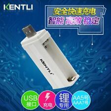 OEM KENTLI 2 ports AA AAA 1.5v lithium rechargebale battery protable usb charger