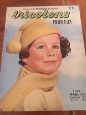 Vintage  CATALOGUE MAGAZINE Tricotons pour eux n• 23- 1956 baby tricot layette