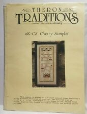Theron Traditions Cherry Sampler 2K-CS Counted Cross Stitch Kit Thread Linen
