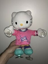 "HELLO KITTY Dance Musical CAR ROOM Window Cling Plush Toy 13"" Sanrio BLIP DOLL"