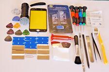 Iphone 8 Negro Kit de reemplazo de pantalla de cristal, Marco de corte ajustado, 21 LED Linterna UV