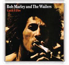 BOB MARLEY - CATCH A FIRE LP COVER FRIDGE MAGNET IMAN NEVERA
