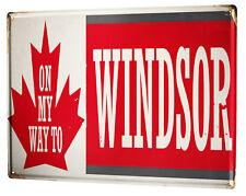 Plaque émaillée XXL Voyage Cuisine  Windsor au Canada